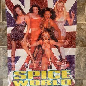 Rare Huge Vintage Spice Girls Spice World Flag